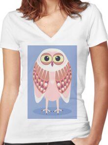 OWL SCOWL  Women's Fitted V-Neck T-Shirt