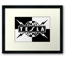 tesla logo band Framed Print