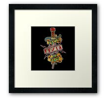 tesla logo band pain Framed Print