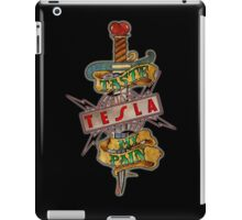 tesla logo band pain iPad Case/Skin
