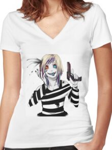 EMO- 45 in my head Women's Fitted V-Neck T-Shirt