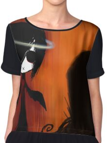 EMO- Angel In Disguise Halo Chiffon Top