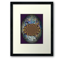 The Psychedelic Voice of the City of New York Interpreted Framed Print