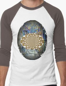 The Psychedelic Voice of the City of New York Interpreted Men's Baseball ¾ T-Shirt