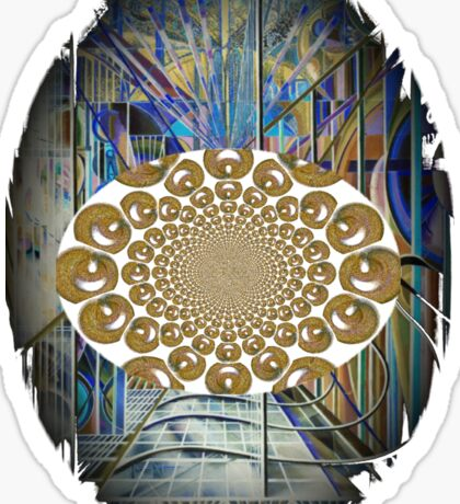 The Psychedelic Voice of the City of New York Interpreted Sticker