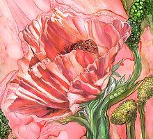 Big Peach Poppy by Carol  Cavalaris