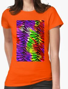 Tiger Stripes Rainbow Fire 2 Womens Fitted T-Shirt
