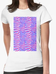 Tiger Stripes Pink and Purple Womens Fitted T-Shirt