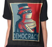 Vote For Democracy  Chiffon Top
