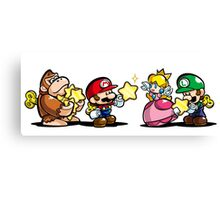 Donkey Kong Mario Peach and Luigi Canvas Print