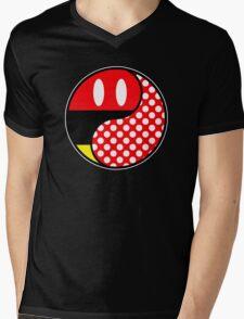 Mouse Yin Yang Mens V-Neck T-Shirt