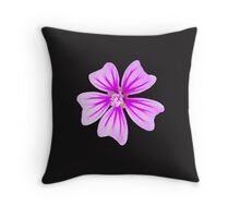 Mauve flowering Mallow Throw Pillow