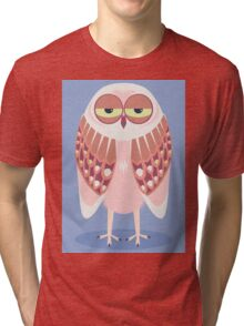 SLEEPY OWL Tri-blend T-Shirt