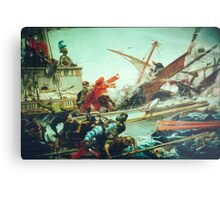 The Battle of Lepanto of 1571 waged by Don John of Austria Metal Print