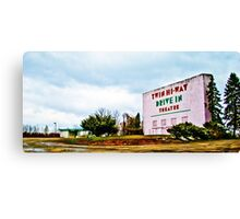 Vintage Drive-In Theater Canvas Print