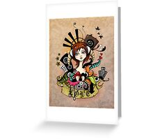 EMO- Music Is Love Greeting Card