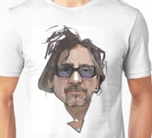 Tim Burton portrait digital illustration Unisex T-Shirt