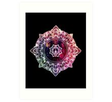 Mandala Color - black Art Print