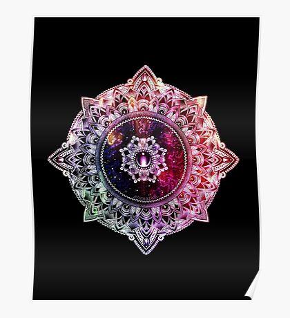 Mandala Color - black Poster