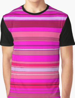 Pink Stripes Graphic T-Shirt