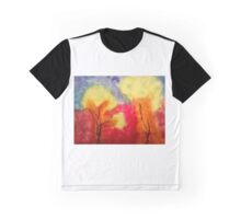 Bäume mit Abstrakter Kunst  Graphic T-Shirt