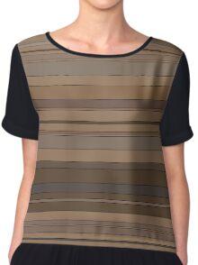 Brown stripes Chiffon Top