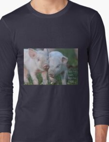 Cute Piglets Poster for Vegans/Vegetarians Long Sleeve T-Shirt