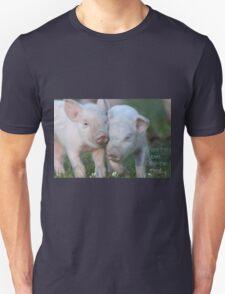 Cute Piglets Poster for Vegans/Vegetarians Unisex T-Shirt
