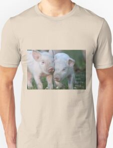 Cute Piglets Poster for Vegans/Vegetarians Unisex T-Shirt