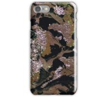 Brown marbling and sequins iPhone Case/Skin