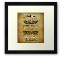 """""""Invictus"""", Victorian poem on parchment Framed Print"""