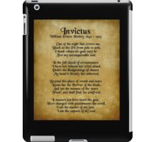 Invictus, Ernst Henley poem on parchment iPad Case/Skin