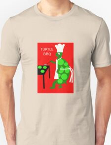 Turtle BBQ  Funny Cartoon Turtle & Spinach Patties Unisex T-Shirt