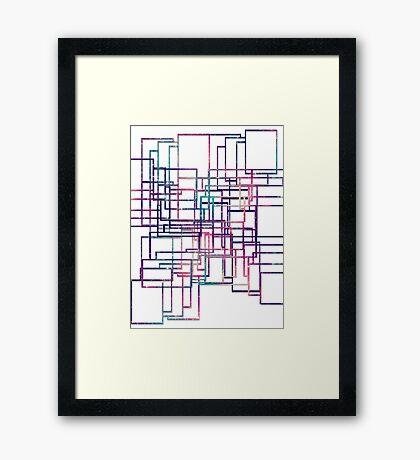 Unique modern elegant line Framed Print