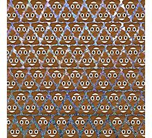 Poo emoji pattern Photographic Print