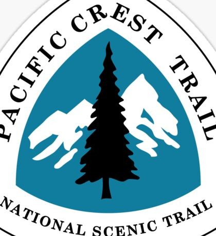 Pacific Crest National Scenic Trail Sign, USA Sticker