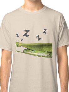Silly Cute Cool Adorable Fun Sleepy Green Anole Lizard  Classic T-Shirt
