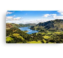Lake Ullswater and Valley Canvas Print