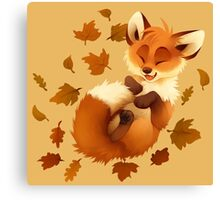 Playful Fox Canvas Print