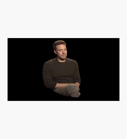 Sad Affleck Photographic Print