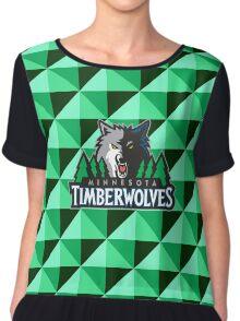 Minnesota Timberwolves Chiffon Top