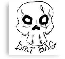 Wicked Skull Dirtbag Canvas Print