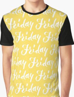 Friday Hand Lettering Design Graphic T-Shirt