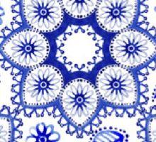 Ohio Blue and white lace Sticker