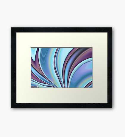 Abstract Fractal Colorways 02PrBl Framed Print