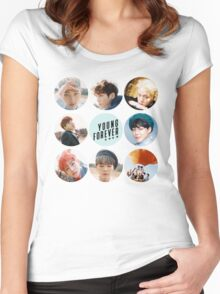 BTS Young Forever; All Members Women's Fitted Scoop T-Shirt