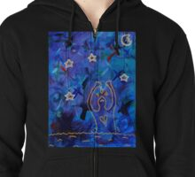 hang the stars from the sky at night Zipped Hoodie
