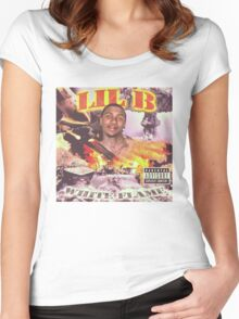 LIL B WHITE FLAME Women's Fitted Scoop T-Shirt