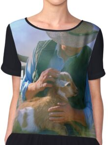 Caring for Goats Chiffon Top