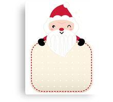 Retro Santa greeting card template Canvas Print